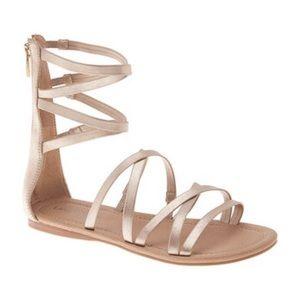 Lane Bryant metallic gold gladiator sandal 12 W
